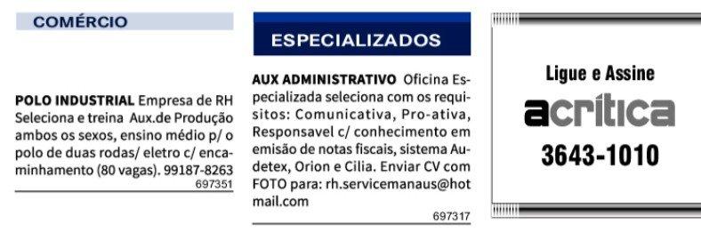 IMG 20201127 084726 - Classificados Jornal Acrítica Sexta Feira