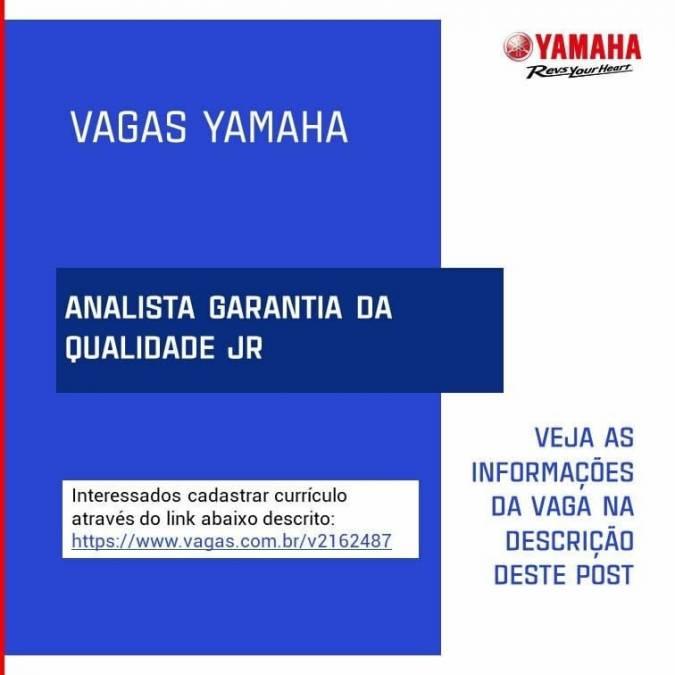 vagas de emprego - Yamaha do polo industrial abre vagas de emprego