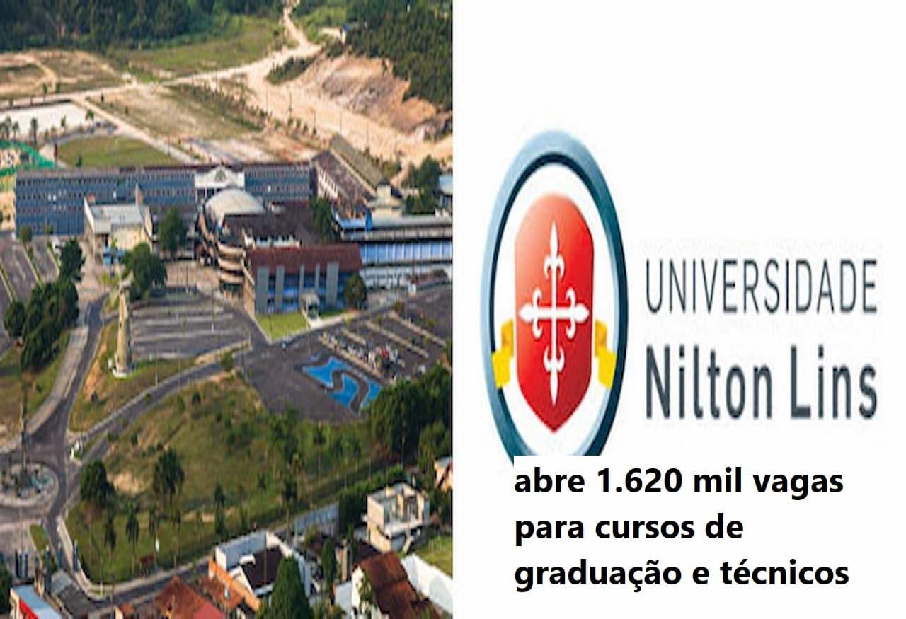 universidade NILTON LINS abre 1620 vagas 1 - NILTON LINS abre 1.620 vagas para Cursos de Graduação e Técnicos